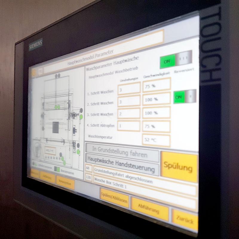 Beispiel für ein HMI (Touchdisplay)